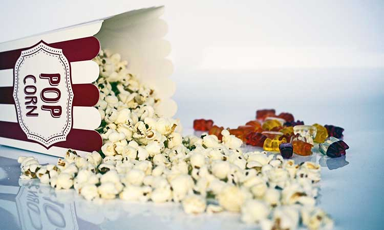 movie night for couple, popcorn