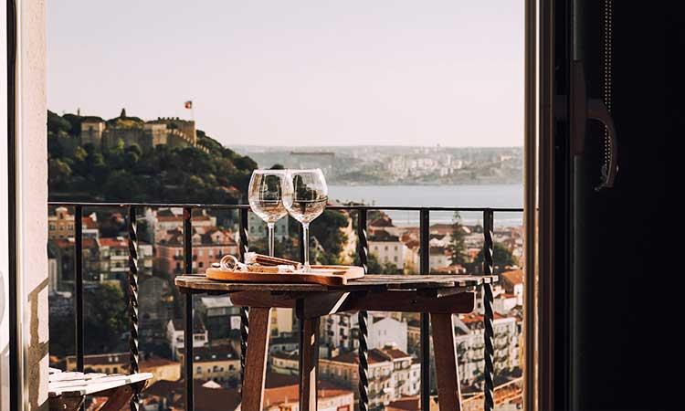Un picnic en el balcón