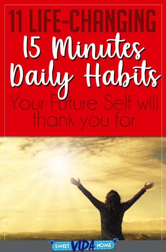 15 minutes habits Pin