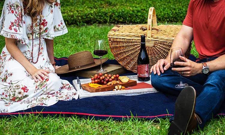 kostenlose Aktivität, romantisches Picknick im Park
