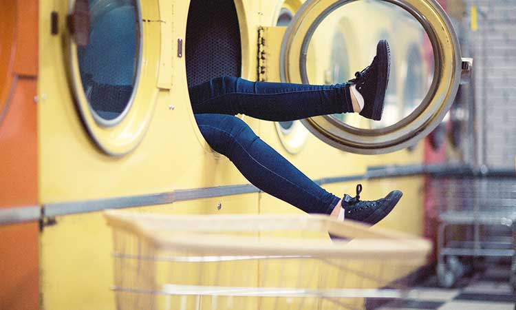 Legs in washing machine