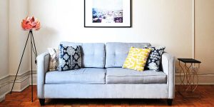 quitar cerco mancha del sofá