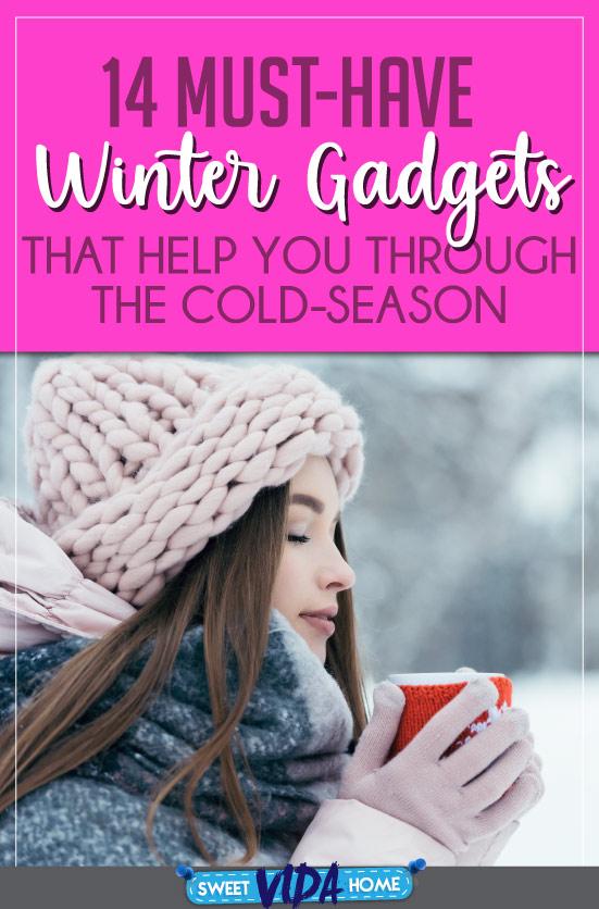Winter gadgets pin
