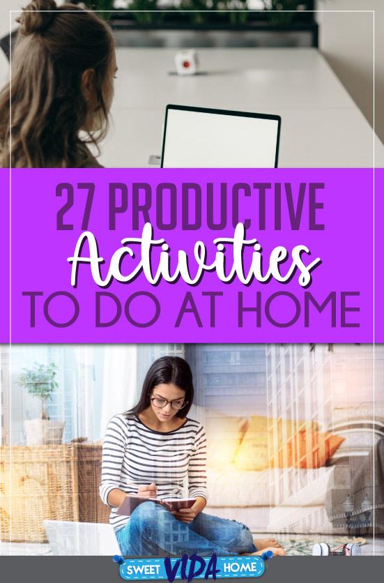 productive activities at home pin