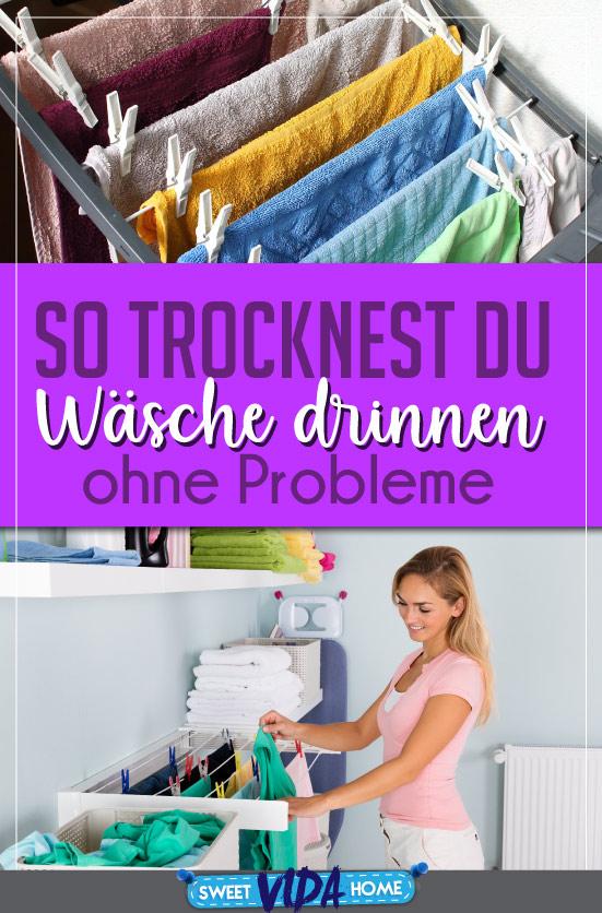wäsche in der Wohnung trocknen
