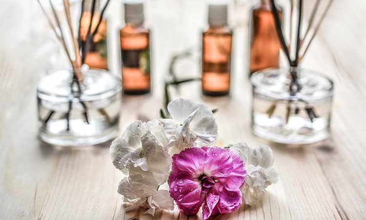 flowers and fragrance oil