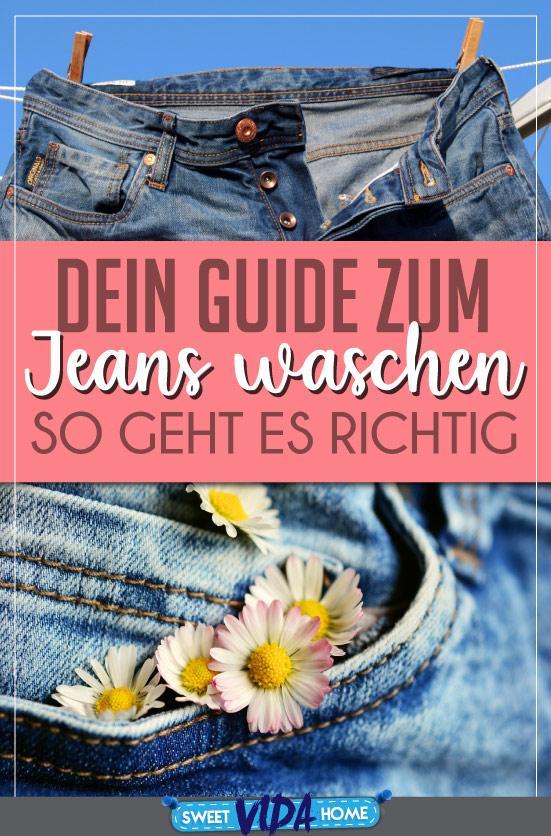 Jeans richtig waschen Pin