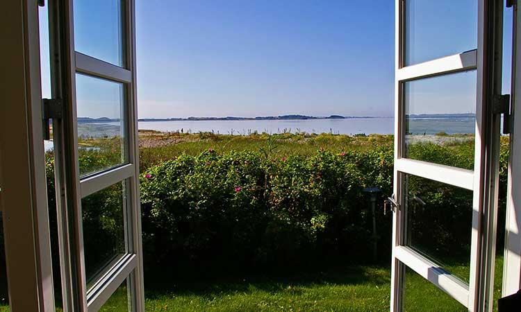 Open window, nature, fresh air