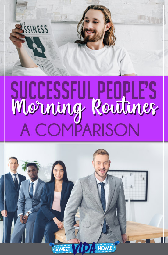 successful people's morning routine pin