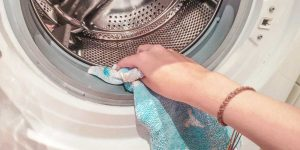 How to remove mold from rubber seal on washing machine